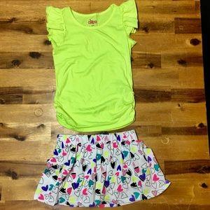 2 Pieces - Girls Skirt Set Size 7/8